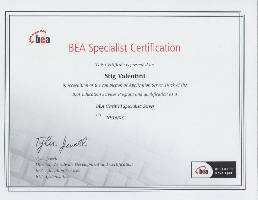 BEA Specialist Certification